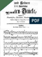 D-David Kellner Lauten=Stücke  (1747)