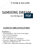 Product Quality of Samung Dreams and Usp