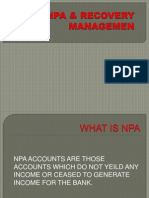 NPA Recovery Management