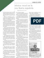 La música vocal en la Semana Santa Española, por José Manuel Gil Ortuño