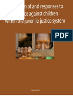 Prevention on and responses to violence against children within the juvenile justice system