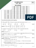 Maths QP Ans CET-2013