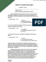 Gettier D. - Is Justified True Belief Knowledge.pdf