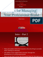 8 Tips for Managing Your Professional Brand (Part 2) - Boston Tech Recruiter