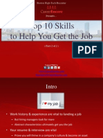 10 Skills to Help You Get the Job (Part 2)  - Boston Tech Recruiter