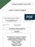3. Matrices stratégiques