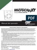 GasAlertMicroClip XT OM Spanish