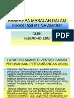 Beberapa Masalah Dalam Divestasi Newmont