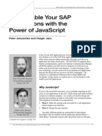 Web-Enable Your SAP With the Power of JavaScript
