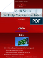 10 Skills to Help You Get the Job (Part 1) - Boston Tech Recruiter
