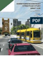 Downtown Riverfront Streetcar Study Draft EIR