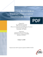 Cognitive Behavioral Therapy/Treatment Literature Review