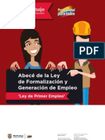 Ley 1429 Del 2010 de Formalizacion Laboral y Generacion de Empleo