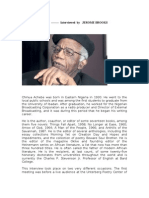Chinua Achebe Interview
