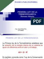 Termodinamica Primera Ley de La Termodinamica Sistema Abierto