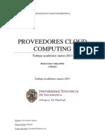 Proveedores de cloud computing