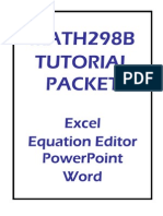 Word, Excel and Power Point Tatorial