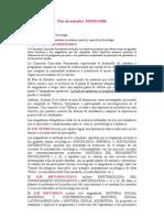Plan de Estudios Sociologia