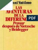 115832173 Gianni Vattimo Las Aventuras de La Diferencia