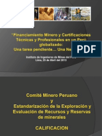 130423_Financiamiento Minero y Certificaciones Técnicas