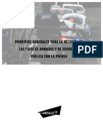 Principios generales para la relación de las Fuerzas Armadas y de seguridad pública con la prensa