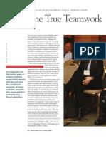 The True of Teamwork
