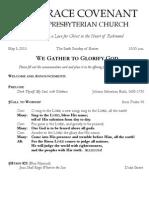 Worship Bulletin May 5, 2013