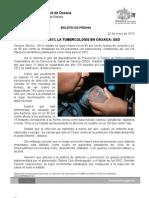 22/01/13 Germán Tenorio Vasconcelos Reduce en 85% La Tuberculosis en Oaxaca, Sso