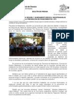 23/01/13 Germán Tenorio Vasconcelos  bebederos de agua y entrega certificación de mercado limpio