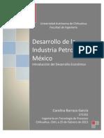 Desarrollo de La Industria Petrolera en Mexico