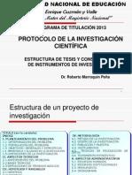 Estructura de Tesis y Construccion de Instrumentos de Investigacion