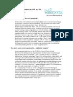 FAQ STP Wastewater
