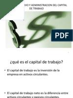 Capital de Trabajo y Flujos de efectivo