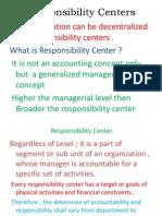 Responsibility Centers .Doc