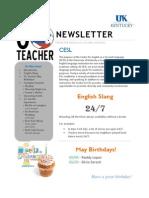 Go Teacher Ecuador May Newsletter