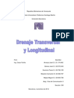Drenaje Transversal y Longitudinal