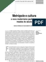 metrópole e cultura