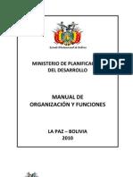 Manual Org Func Mpd