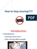"""Kevin's """" How to stop Snoring"""" Presentation"""