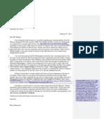 Complaint Letter Comments