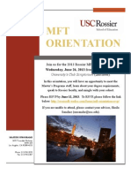 MFT Orientation Invitation 2013
