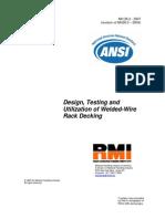 ANSI MH26.2 – 2007_Design,testing and utilization of weldwd-mire rack decking_WIRE DECK RMI