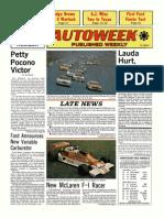 1976 German Grand Prix -- Niki Lauda injury