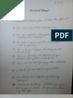 Observation Notes