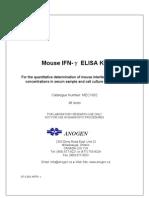 MEC1002 Cytokine ELISA Kit Mouse IFN-γ (96 tests × 1)
