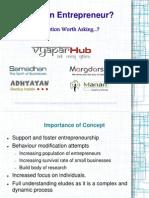 Who is an Entrepreneur - Vyapar Hub Presentation