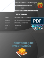 Diapositiva de Protocolo-titulo Del Proyecto de Investigacion