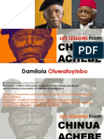Life Lessons From CHINUA ACHEBE