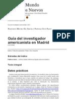 Guía del investigador americanista en Madrid