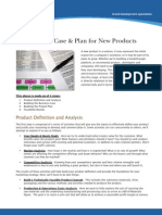 Building the Business Case and Plan in New Product Development